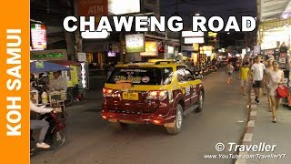 Chaweng Beach Road at Night - Nightlife in Chaweng Road Koh Samui Thailand - Ko Samui attractions