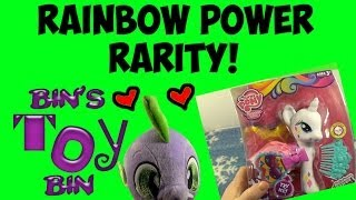 My Little Pony Rainbow Power Fashion Style RARITY Review! by Bin's Toy Bin