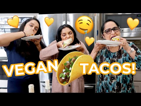 Cooking with the Pandus! | Vegan Tacos with Mama Pandu