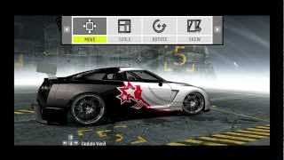 Need For Speed ProStreet customized cars: Nissan GT-R [R-35] (Tutorial)