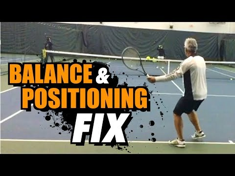 How to IMPROVE your Balance & Positioning - Tennis Lesson + Drills