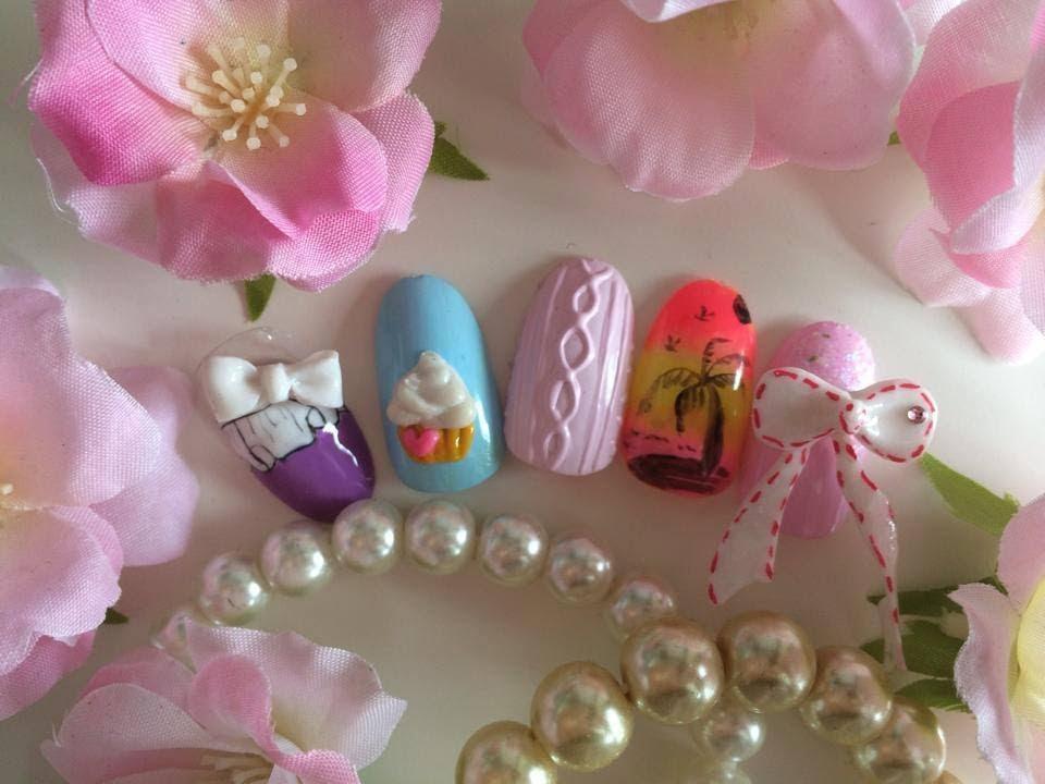 Japanese Nail Art Tutorial~~3D Acrylic Cupcake - YouTube