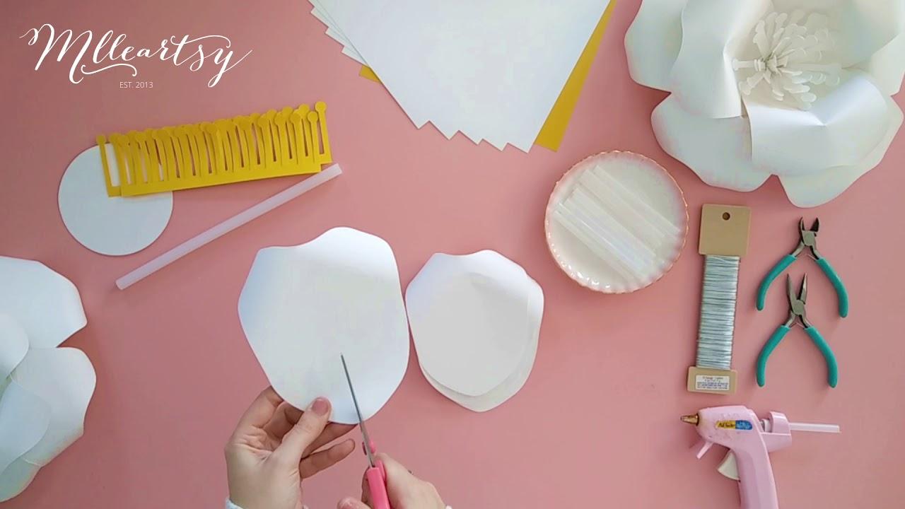 diy tutoriel fleur en papier g ante paper flower tutorial. Black Bedroom Furniture Sets. Home Design Ideas