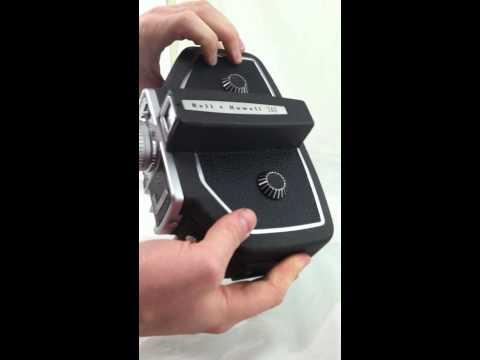 Bell & Howell 16mm Film Movie Camera Model 240 Functioning