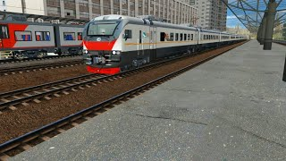 Прибытие ЭП2Д на Курский вокзал