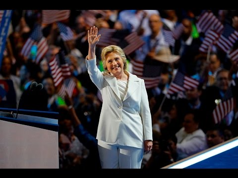 Hillary Clinton takes the 2016 DNC stage, thanks Bernie Sanders