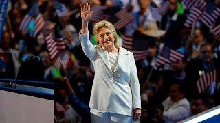Hillary Clinton takes the 2016 DNC stage, thanks Bernie Sanders