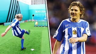 Jimmy Bullard Recreates | The Bulldog attempts HIS OWN 25 yard top bin freekick!