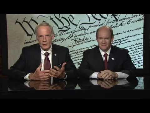 Delaware Sen. Tom Carper and Sen. Chris Coons - Constitution Day PSA - 2015