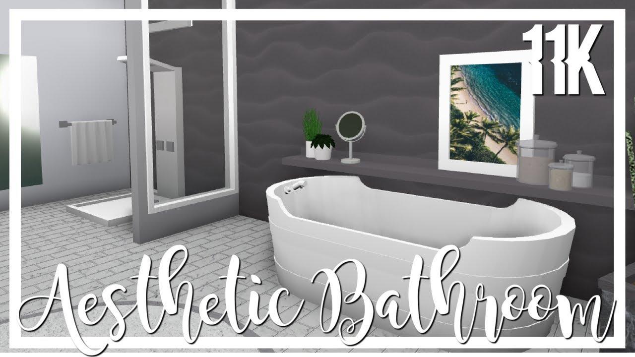 Bloxburg: Aesthetic Bathroom 🌸 - YouTube