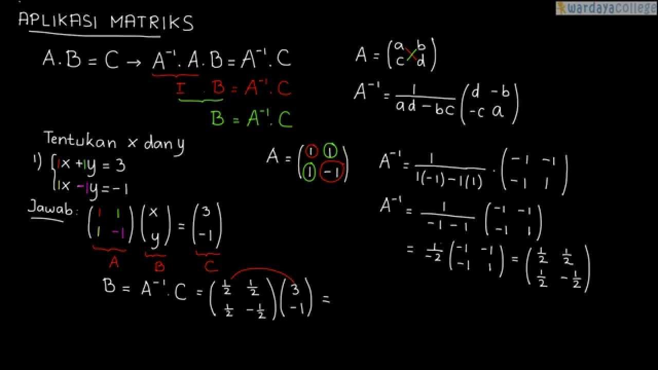 Contoh Soal Aplikasi Matriks 1 Youtube
