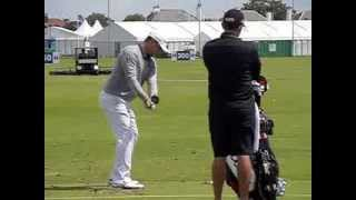 Gary Woodland, fairway metal swing (down-the-line), The Open Championship 2012