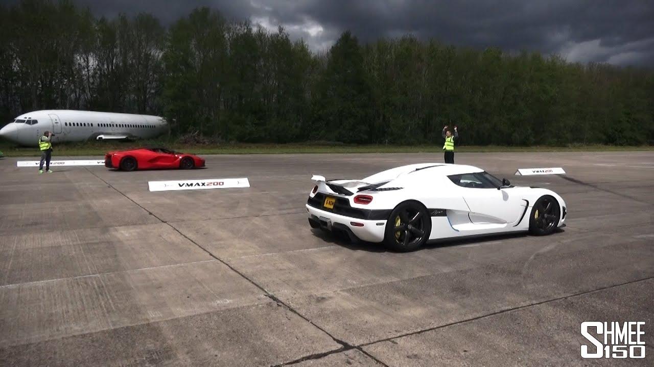 画像: DRAG RACE: LaFerrari vs Koenigsegg Agera - Vmax Hypermax youtu.be