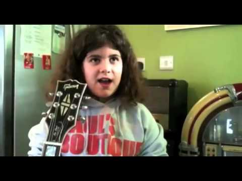 Mini Hendrix Ayla rocks out.