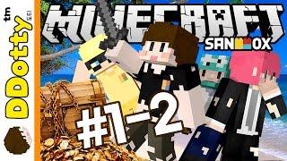 유치원생 비콩이!? [보물섬: 상황극 어드벤쳐 #1-2편] 마인크래프트 Minecraft - Treasure Island - [도티]
