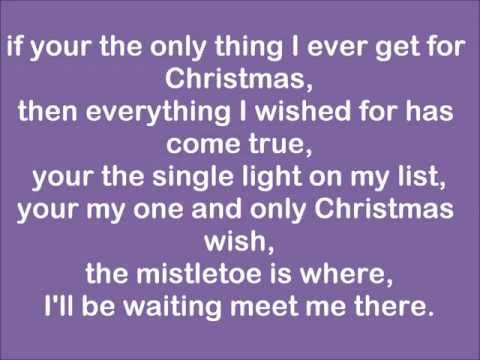 Justin Bieber-Only thing I ever get for Christmas (lyrics)