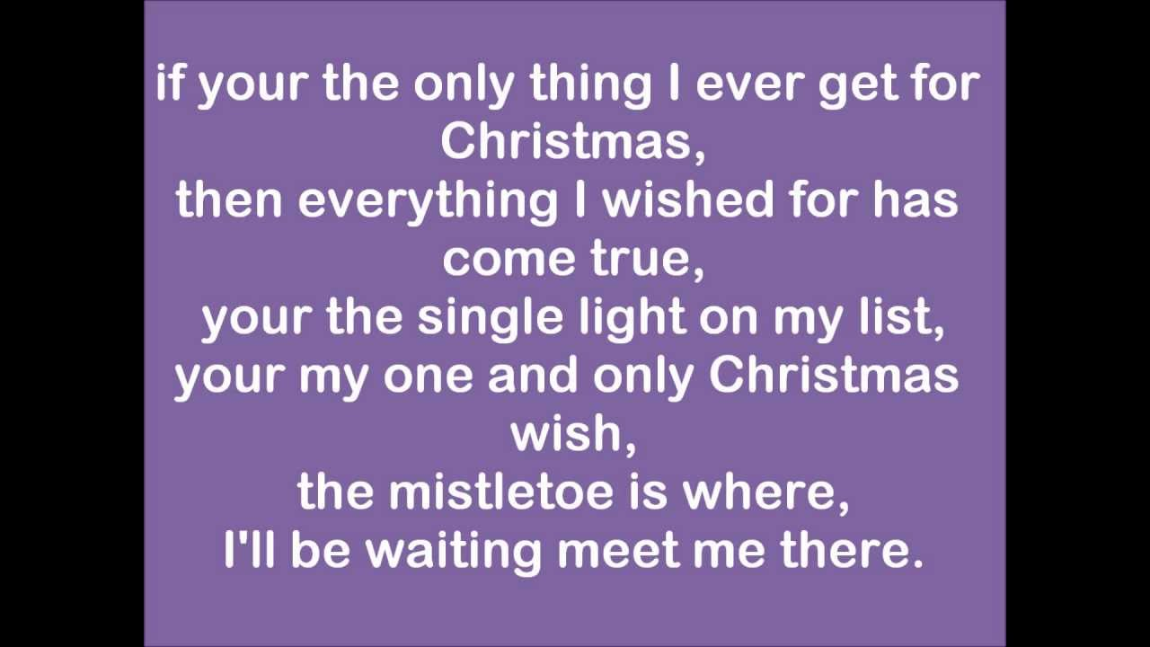 Justin Bieber-Only thing I ever get for Christmas (lyrics) - YouTube