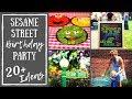 Sesame Street Birthday Party Ideas