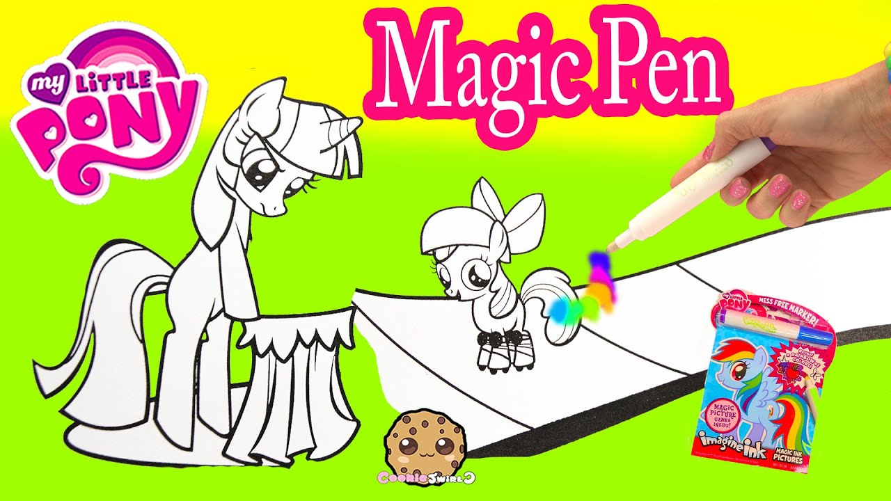 my little pony imagine ink rainbow color pen art book with