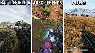 BATTLEFIELD V (Firestorm) VS APEX LEGENDS VS PUBG - GAMEPLAY COMPARISON ** WHICH IS THE BEST **
