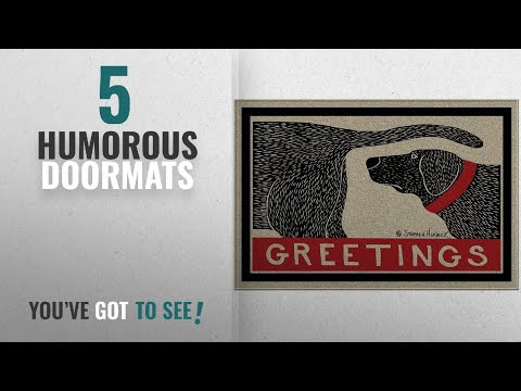 Top 10 Humorous Doormats [2018 ]: Humorous Dog Sniffing Welcome Doormat Offers Unique Greeting To