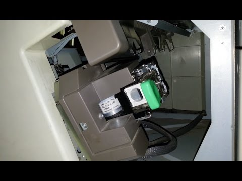What happens inside photocopier finisher? [Stapling]