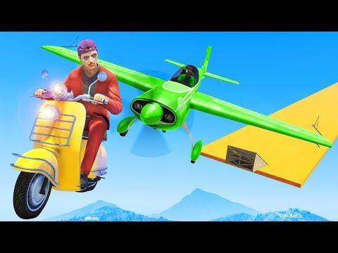 Dodge The Plane OR LOSE! - GTA 5 Funny Moments