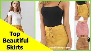 Top 50 beautiful skirts, pencil skirts and best skirts for ladies S1