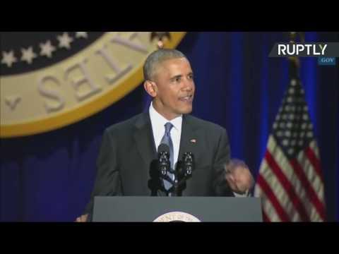 Barack Obama delivers farewell address as US president (Streamed Live)