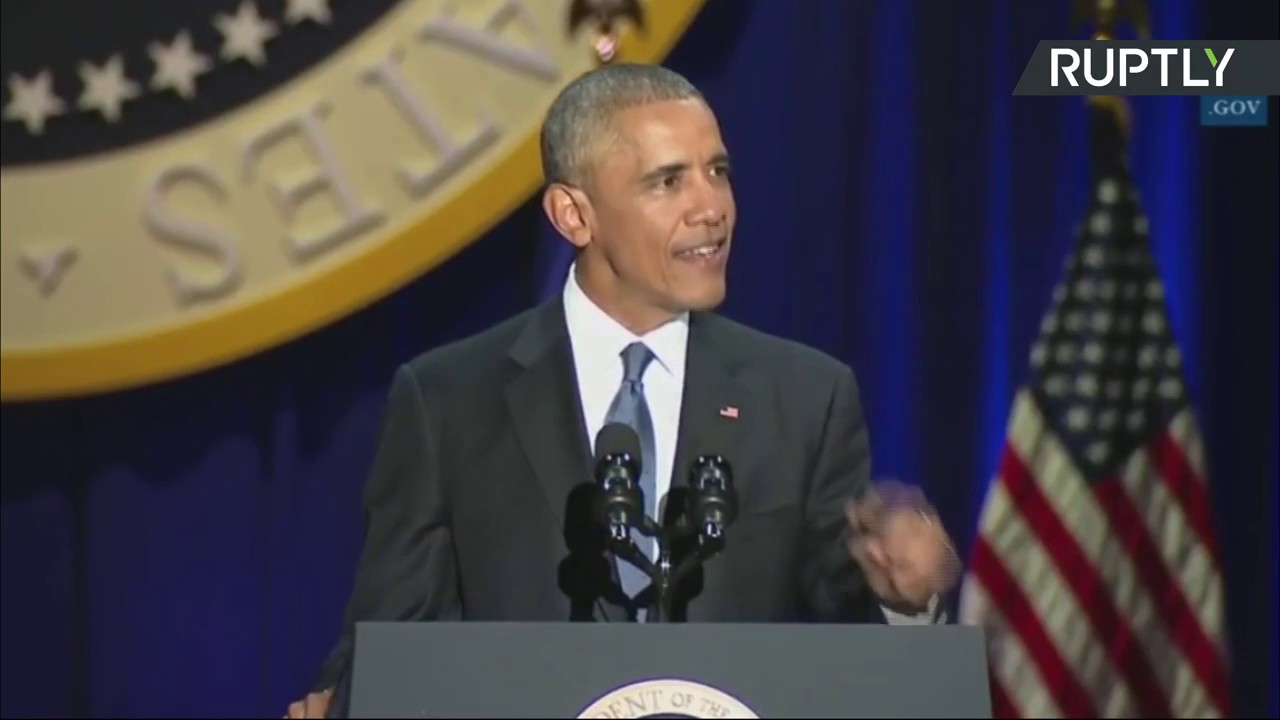 Barack Obama delivers farewell address as US president (Streamed Live)
