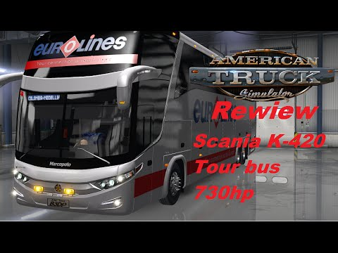 American Truck Simulator. Scania Tour Bus Review.