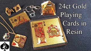 Casting Gold Effect Playing Cards in Epoxy Resin with AMAZING results