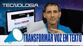 TRANSFORMAR ÁUDIO EM TEXTO