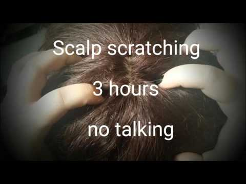 ASMR: 3 HOURS of binaural SCALP SCRATCHING- no talking- requested