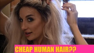 Cheap Human Hair Wig from Hot Queen: a review by Sasha