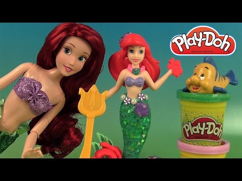Play Doh La Petite Sirène Ariel & ses amis marins Ariel & Undersea Friends Pâte à modeler