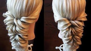 Свадебная причёска с помощью резинок - Hairstyles by REM(Свадебная причёска с помощью резинок. Прочно, легко и красиво! Мои страницы: http://youtube.com/user/rogovaya http://vk.com/lena.rog..., 2015-02-11T17:15:29.000Z)