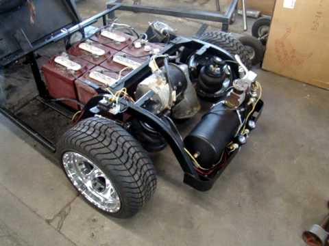 Wicked Carts Air Bag Golf Cart 4 link rear air bags