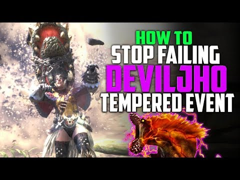 How To DEFEAT Tempered Deviljho Event Quest! Get Your Hero Streamstones! Monster Hunter World Events
