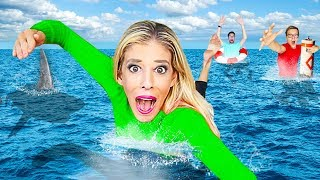LAST TO LEAVE OCEAN Wins $10,000! (Worst GMI 24 Hour Challenge in Hawaii) | Rebecca Zamolo