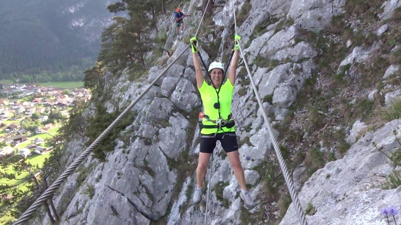 Klettersteig Nassereith : Leite klettersteig nassereith youtube