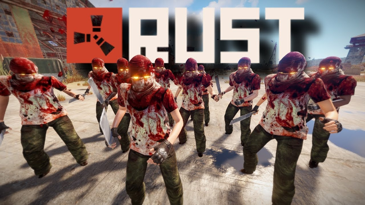 Zombie Horde Infestation at Airfield! | Rust Zombies #6