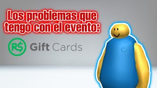 The problems I have with the Gift Cards event (Roblox)