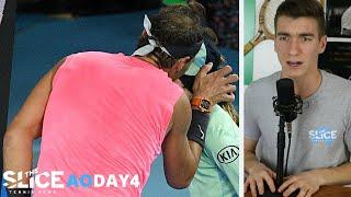 Rafa Nadal KISSES Ball Girl | THE SLICE AO Day 4