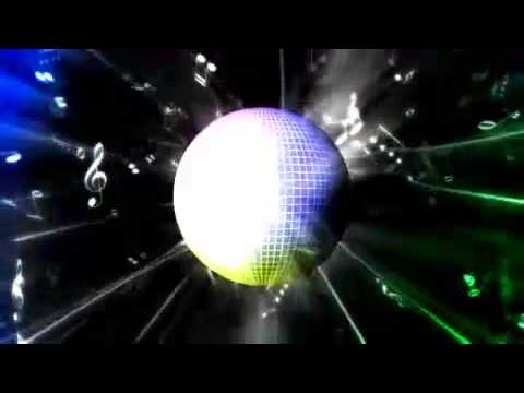 Colorful Disco Ball and Music Notes Motion Background