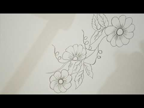 Learn to draw Flower.. For beginners.... pencils drawing....