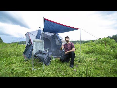 Хитрая палатка FHM Polaris 4. ВИДЕО ОТЧЁТ - Отдых бригады \