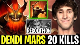 DENDI MARS Midlane Overpower New Hero vs Resolu1ton Dota 2