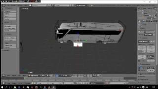 cara import export model bus ETS2 via BLENDER tools