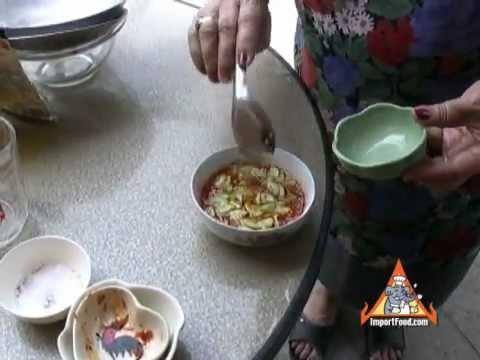 Thai Street Vendor Dipping Sauce For Fish Cakes